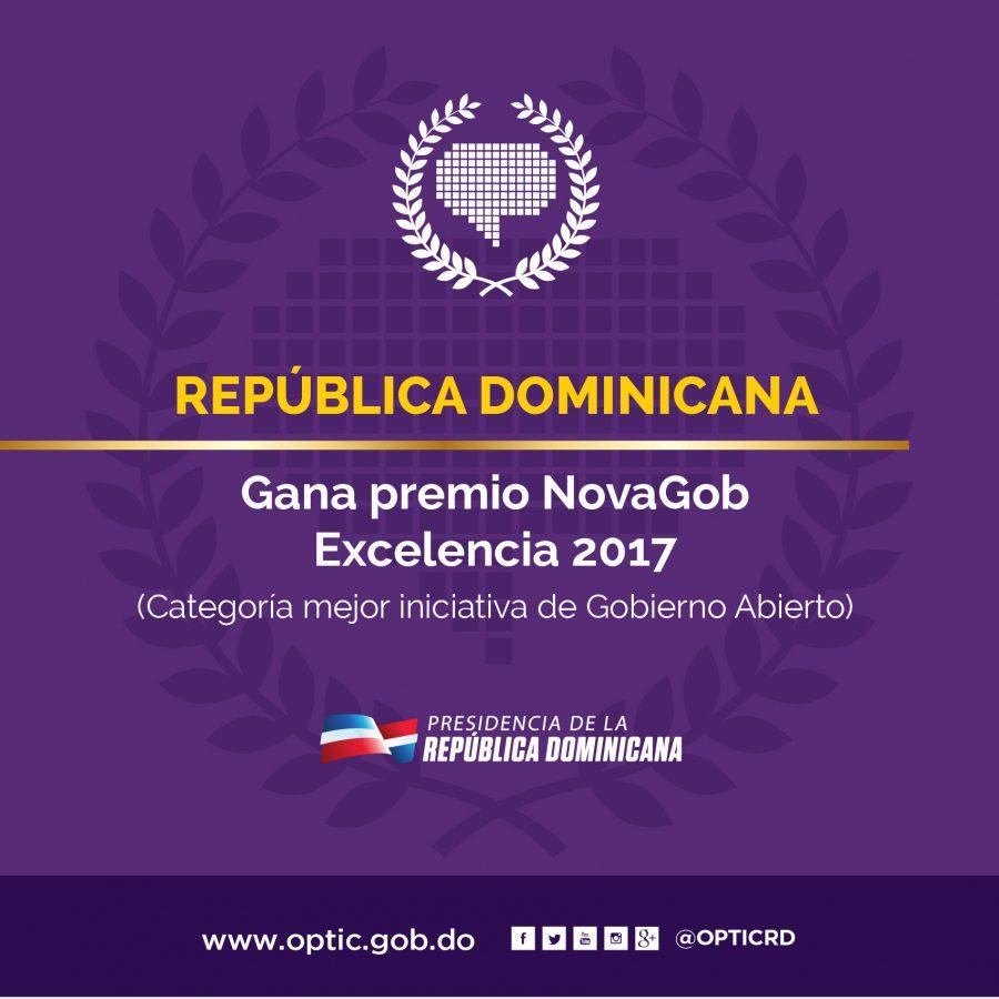 RD gana premio NovaGOB Excelencia 2017