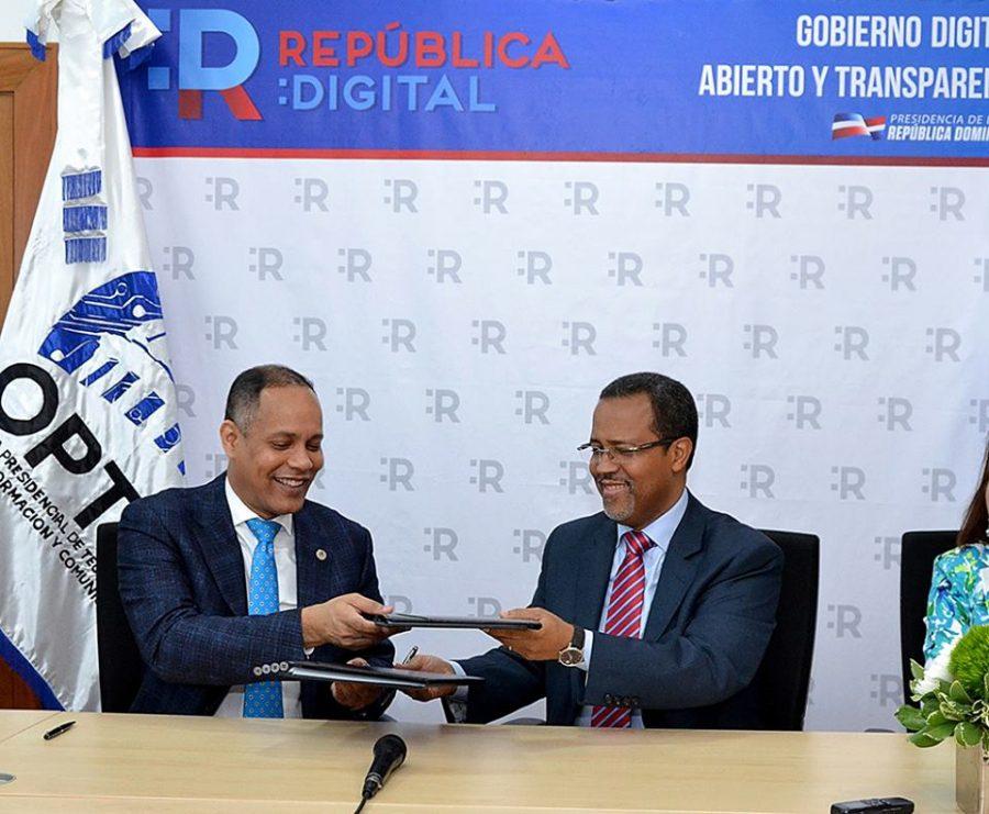 Director de OPTIC y del INABIMA firman acuerdo