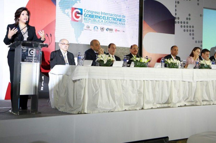 Mesa de honor en el Congreso Nacional de Ciberseguridad