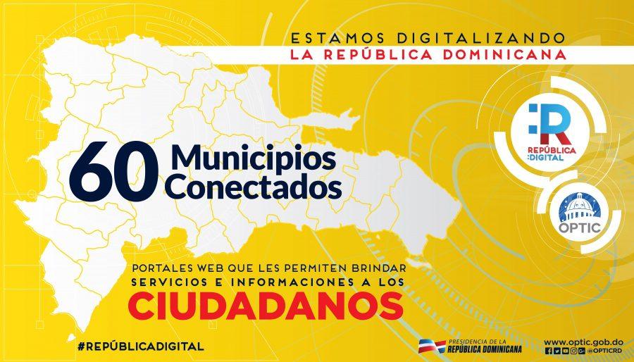 Mapa de los 60 municipios conectados