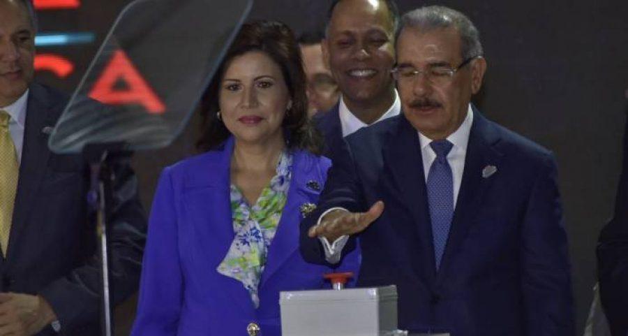 Presidente Medina inaugurando el Data Center del Estado