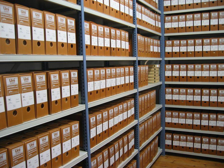 Foto de documentos archivados