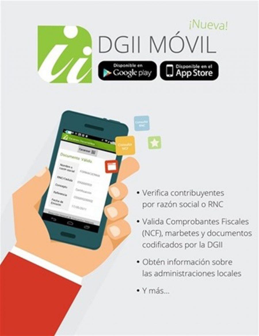 DGII móvil, lo que puedes hacer a través de la APP.