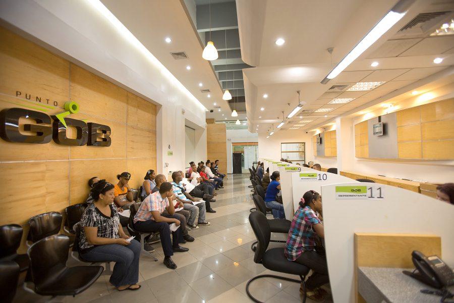 Sala de espera del Punto GOB Megacentro