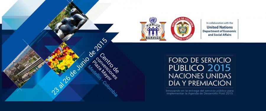 Flyer del Foro Mundial del Servicio Público 2015