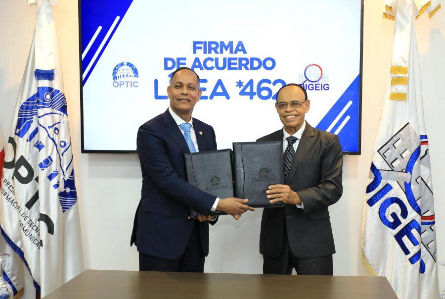 Firma de Acuerdo entre OPTIC y DIGEIG